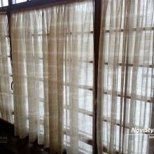 """шторы в стиле """"кафе"""" на пластиковое окно"""