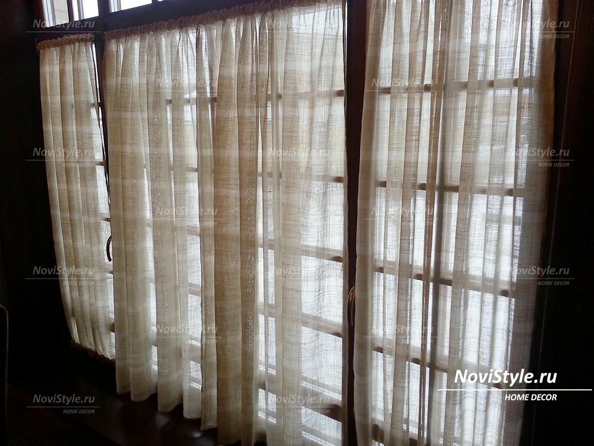 шторы в стиле кафе фото