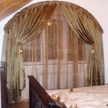 Портьеры на арочное окно