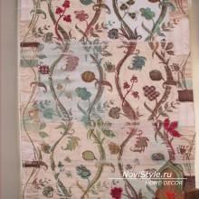 Римские шторы с цветочным орнаментом