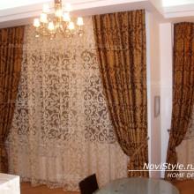 Дизайн штор в гостиную