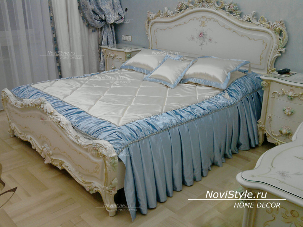 Элитные покрывала на кровать фото