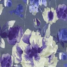 Цветочные ткани AQUARELLE изготовлены из натурального льна.  В коллекции также есть однотонные ткани-компаньоны...