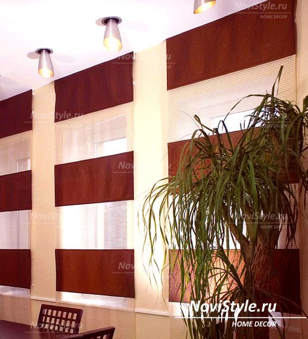 Рулонные шторы в кабинет