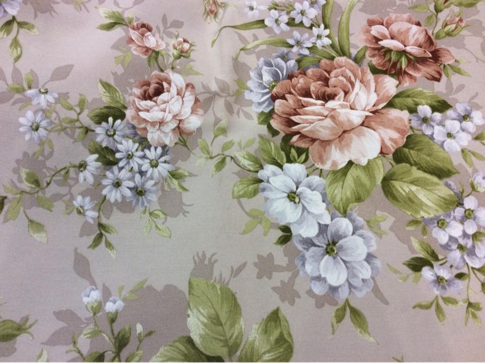 Ткань для штор цветочный рисунок