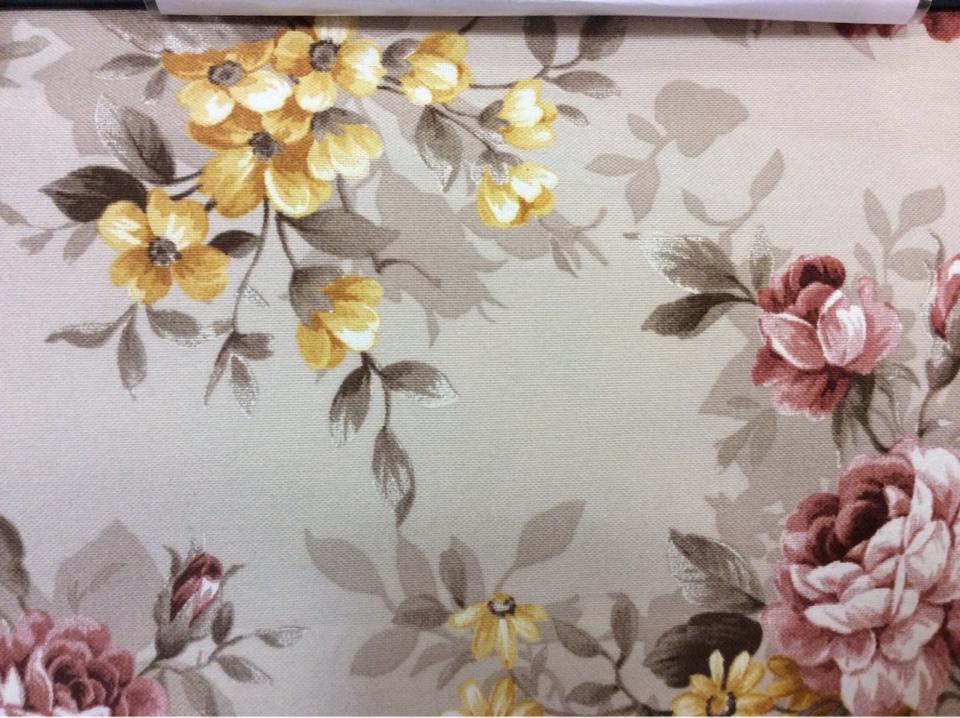 Ткань с цветочным узором для штор в Москве