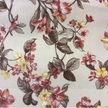 Портьерная ткань для штор Kamil B Terracotta 12 с цветами. Принт