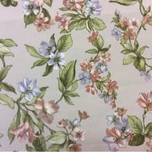 Испанская ткань для штор Kamil B Brown 32. Мелкоузорный принт.