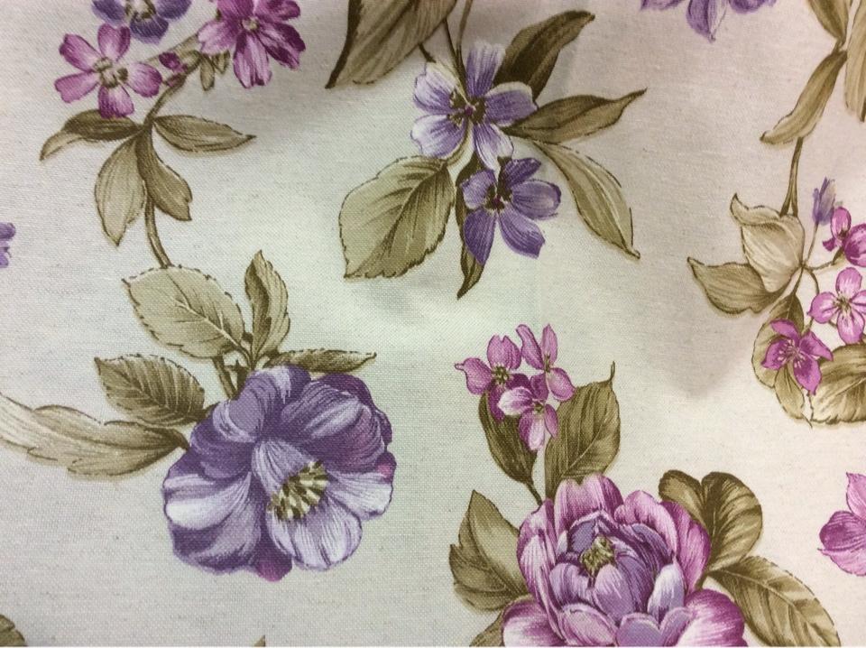 Красивая цветочная ткань для штор 75% полиэстер, 13% коттон, 12% лён