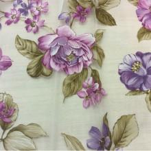 Ткань для штор с цветами Candi Devore Lilas 70. Принт, Испания