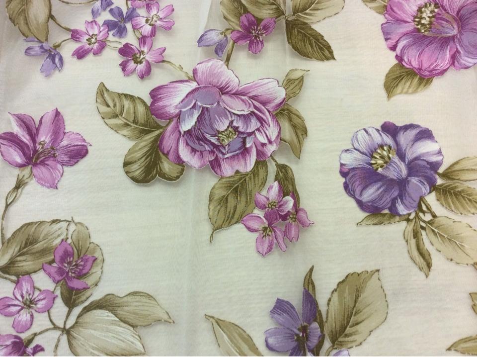 Красивая ткань для штор принт с цветами