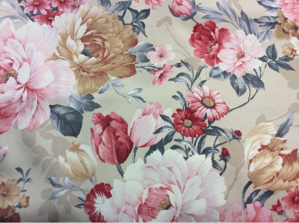 Ткань для штор производства Испании с цветочным принтом