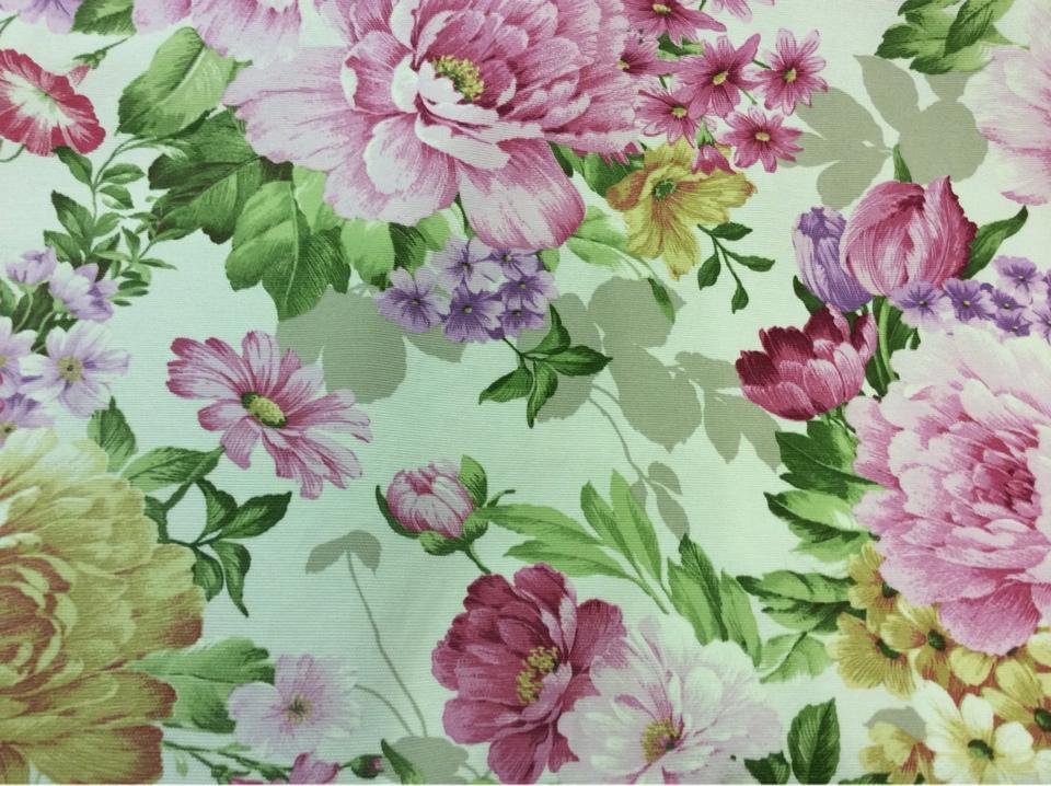 Ткань для штор принт Испания цветы