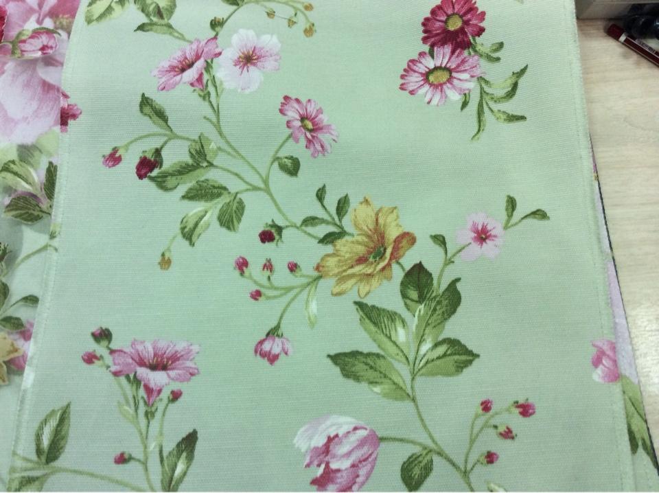 Ткань для штор портьерная цветочная