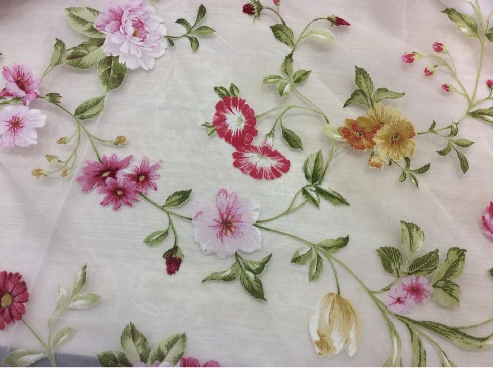 Цветы портьерная ткань в Москве