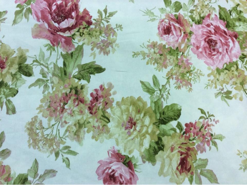 Ткань в стиле прованс принт цветочный