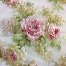 Ткань из вискозы Isabelle 2. Принт, Испания, органза
