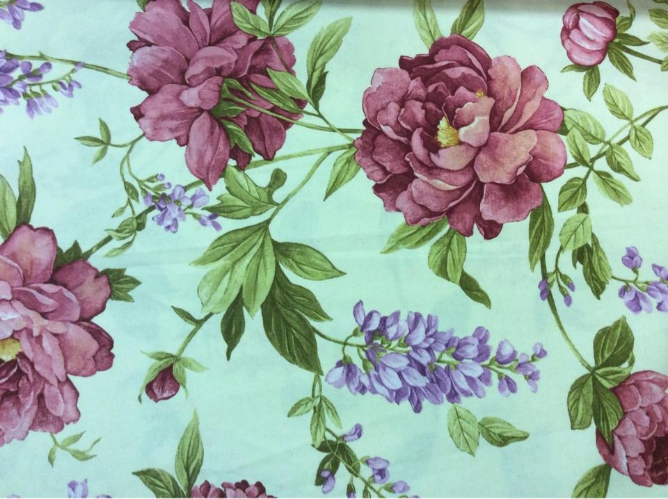 Ткань с растительным рисунком цветов