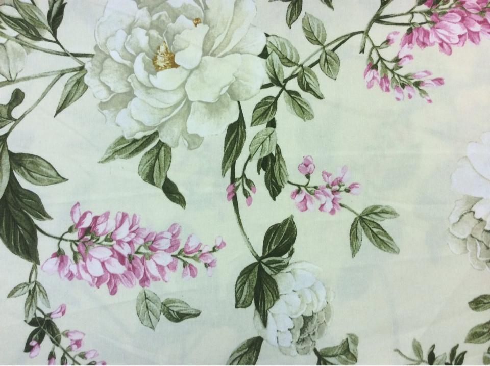 Красивая ткань для штор с цветами
