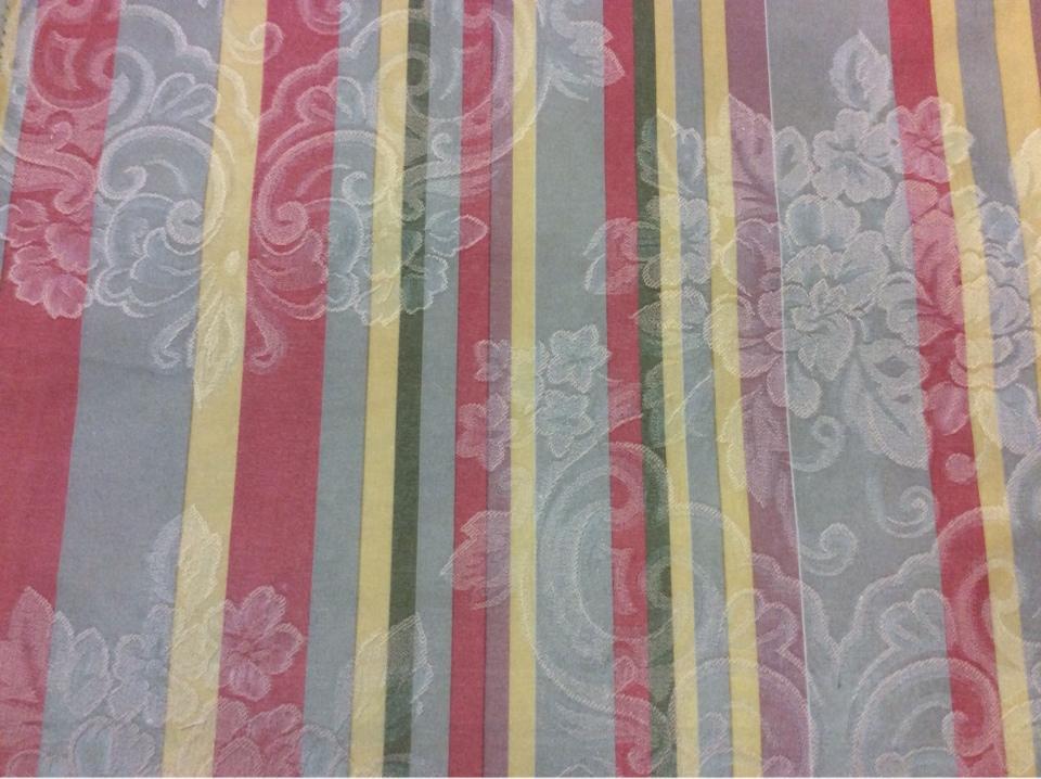 Атласная ткань для штор с орнаментом