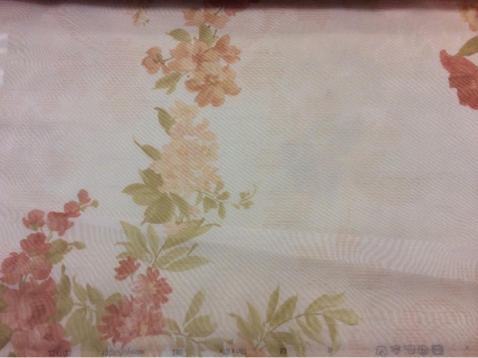 Органза с цветочным растительным орнаментом