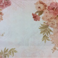 Цветочная ткань из атласа и хлопка 2239/23