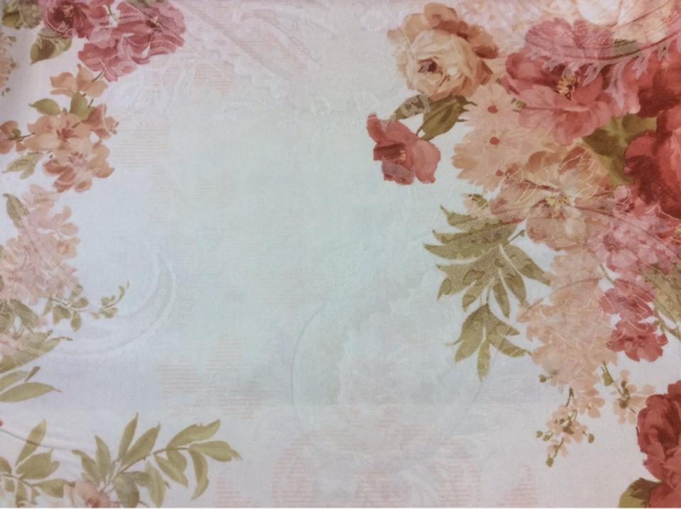 Цветочная ткань из атласа заказать в Москве