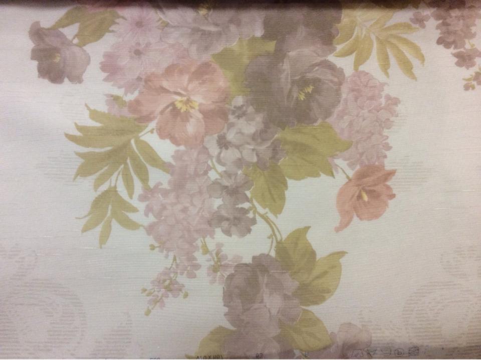 Тюль из органзы с цветочками купить