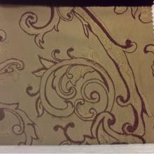 Портьерная ткань хлопок Rosetta 5. Турция. На бежевом фоне красный орнамент