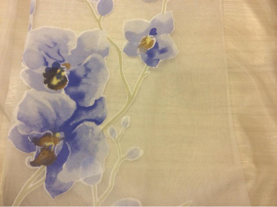Итальянская ткань микровуаль с орнаментом цветы купить