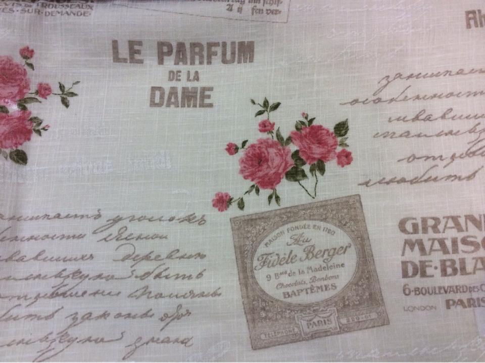 Ткань под хлопок из полиэстера купить Испания Беж фон, розовые цветы