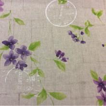 Хлопковая ткань в стиле прованс Cassis col 29. Испания, бежевый фон, фиолетовые цветы