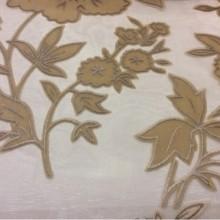 Тюль из хлопка с цветами Fiore 010. Италия. На прозрачном фоне кремовые цветы ( набивка)