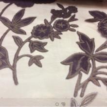 Ткань хлопок Fiore col 110. Италия, На бордовом фоне фиолетовые цветы (набивка)