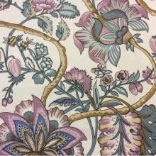 Хлопковая ткань с цветами на белом фоне 2435/31. Испания, портьерная
