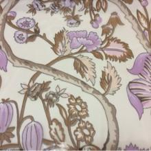 Ткань, микровуаль в стиле пейсли 2441/41. Испания, На прозрачном фоне коричневые, сиреневые цветы