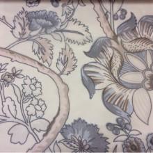 Ткань микровуаль в стиле пейсли 2441/21. Испания, На кремовом фоне дымчатые цветы