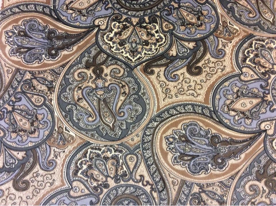 Портьерная ткань узорная турецкие огурцы