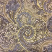 Ткань микровуаль 2440/90. Испания, На тёмном фоне орнамент серого, болотного оттенков