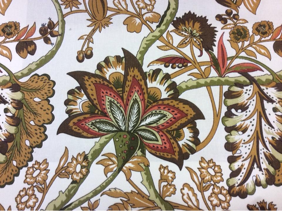 Портьерная ткань с красивым принтом купить