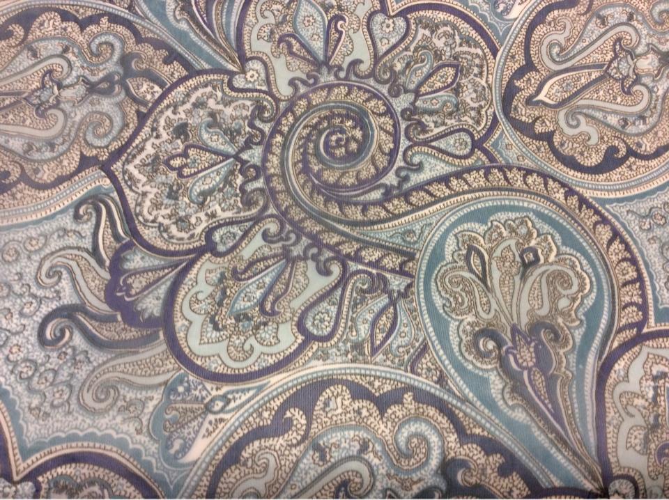 Ткань микровуаль в стиле пейсли