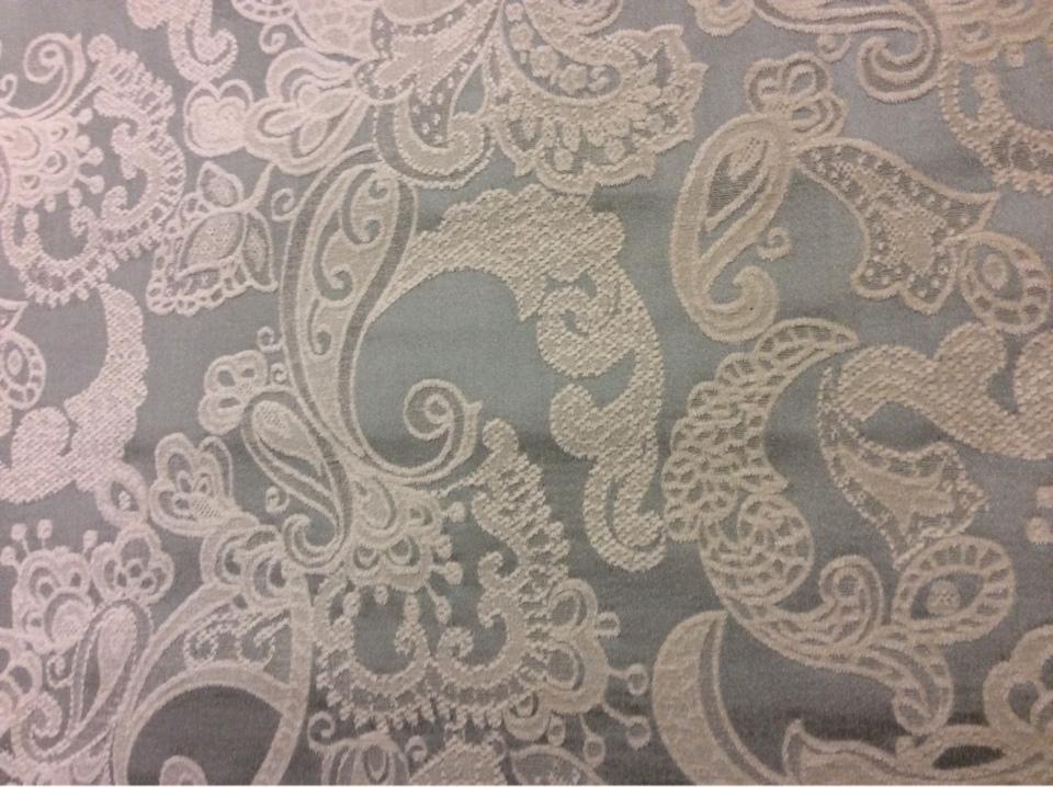 Атлас, шенил, стиль ткани пейсли 2332/41. Испания, классический стиль, цвет морской волны