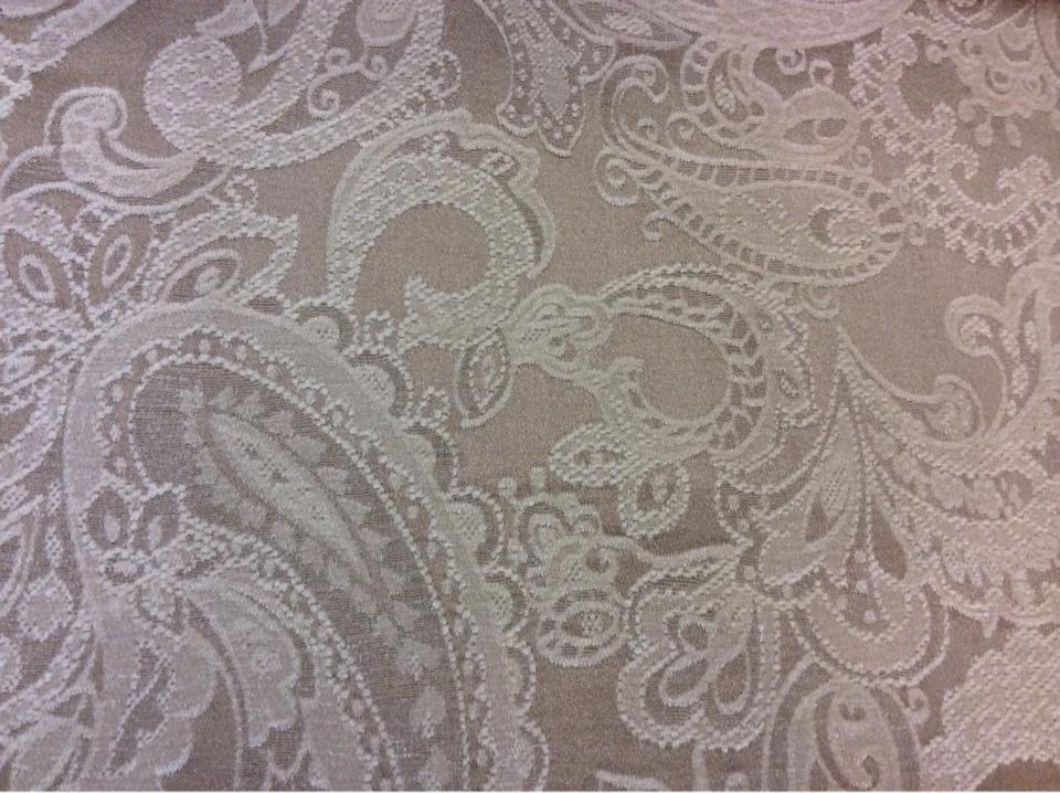 Европейская портьерная ткань атласная, шенил 2332/21. Испания, темно-бежевого цвета