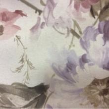 Купить ткань блэкаут Gulce 1095. Турция, светонепроницаемая ткань для штор на заказ. На сером фоне розовые, голубые цветы