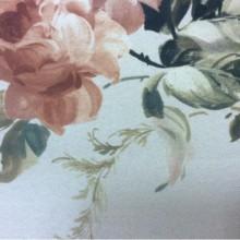 Ткань блэкаут для штор Gulce 1031. Турция, светонепроницаемая ткань. На сером фоне терракотовые цветы ( акварель)
