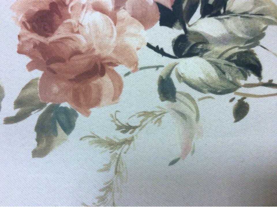 Ткань блэкаут для штор Gulce 1031. Турция, светонепроницаемая ткань. На сером фоне терракотовые цветы ( акварель) купить