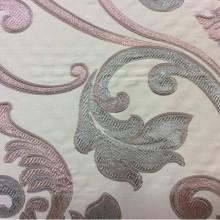 Купить итальянскую ткань для штор Botticelli 01. Европа, Италия, портьерная. Серовато-розовый фон, ткань в стиле барокко
