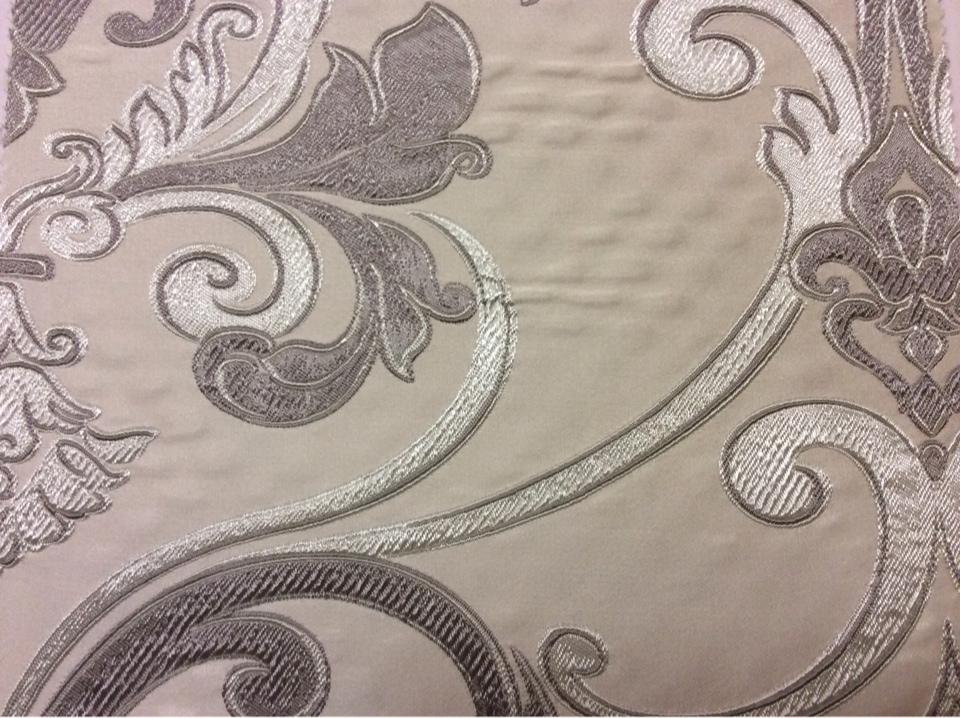 Ткань в стиле барокко Botticelli 02. Европа, Италия, портьерная. Золотисто-серый фон купить
