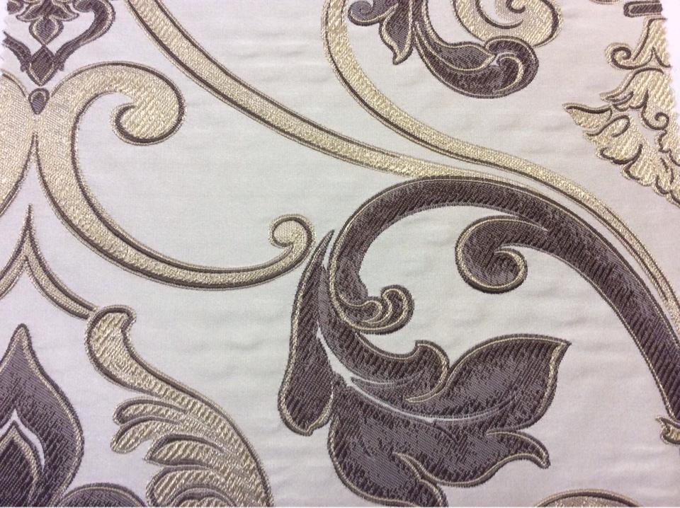 Купить ткань в стиле барокко Botticelli 03. Италия, Европа, портьерная, вискоза. Золотисто-коричневый фон заказать в интернет-магазине