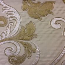 Заказать ткань в стиле барокко Botticelli 04. Италия, Европа, портьерная ткань для штор. Золотисто-серебристый фон